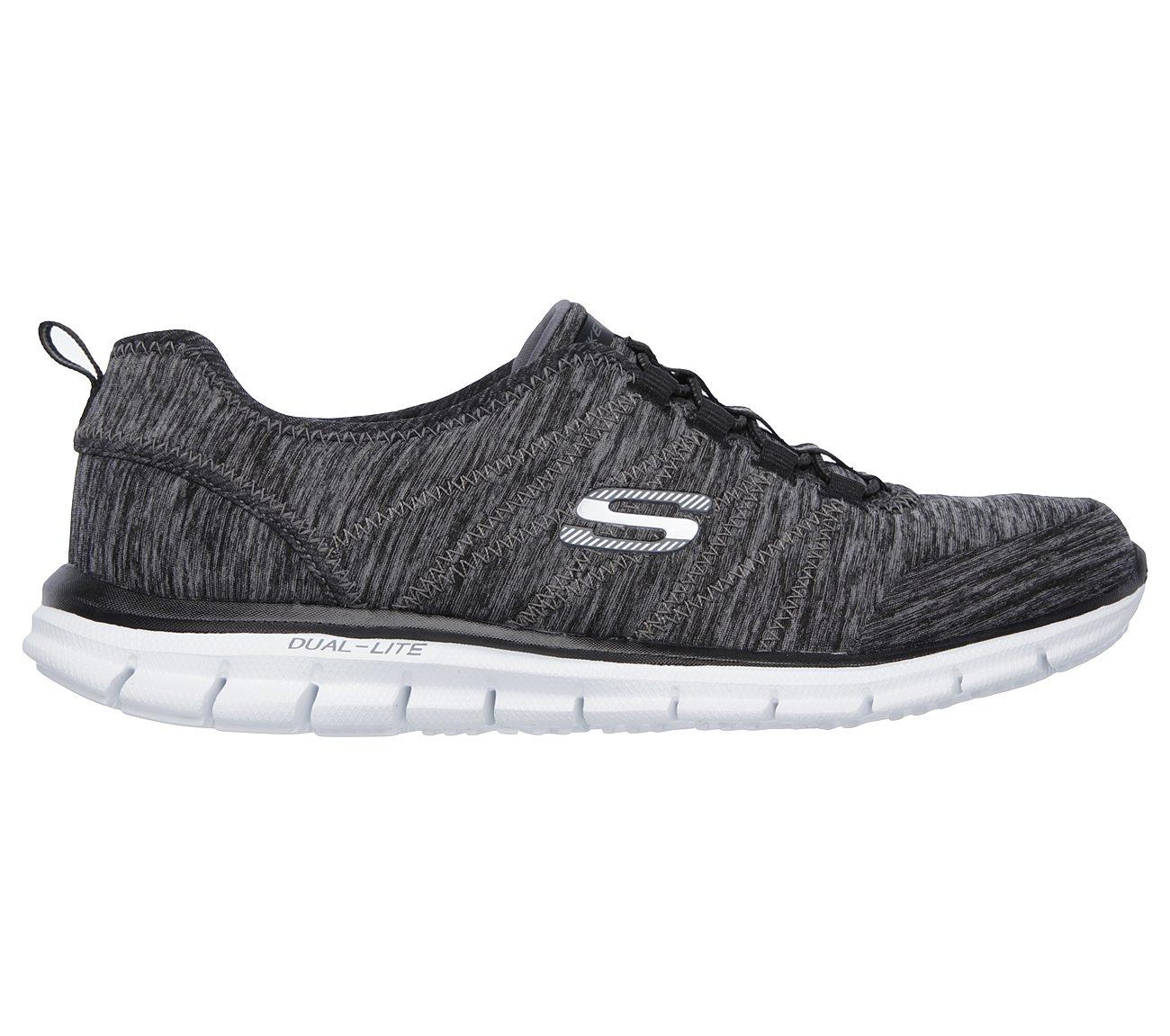 Skechers Glider Electricity Memory Foam Sneaker Grey (Women