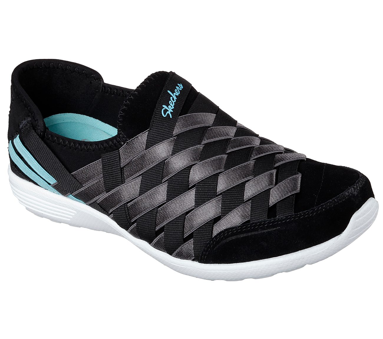 Skechers Shoes  Skechers Destiny 22807 Womens Sports Shoes BlackWhite