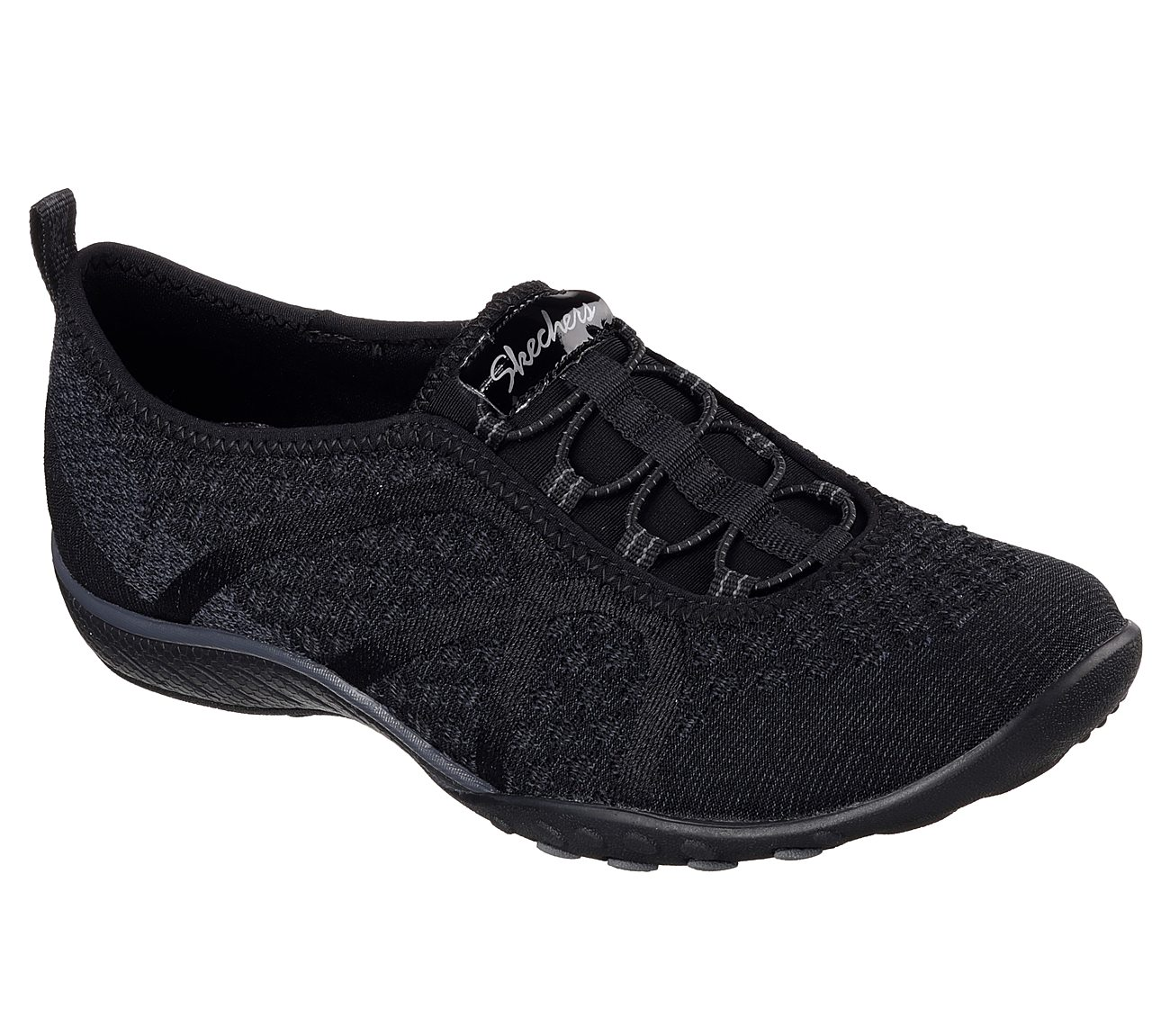Details about Skechers Women's Size 10 Slip On Sneakers Black w Memory Foam Bungee Lace