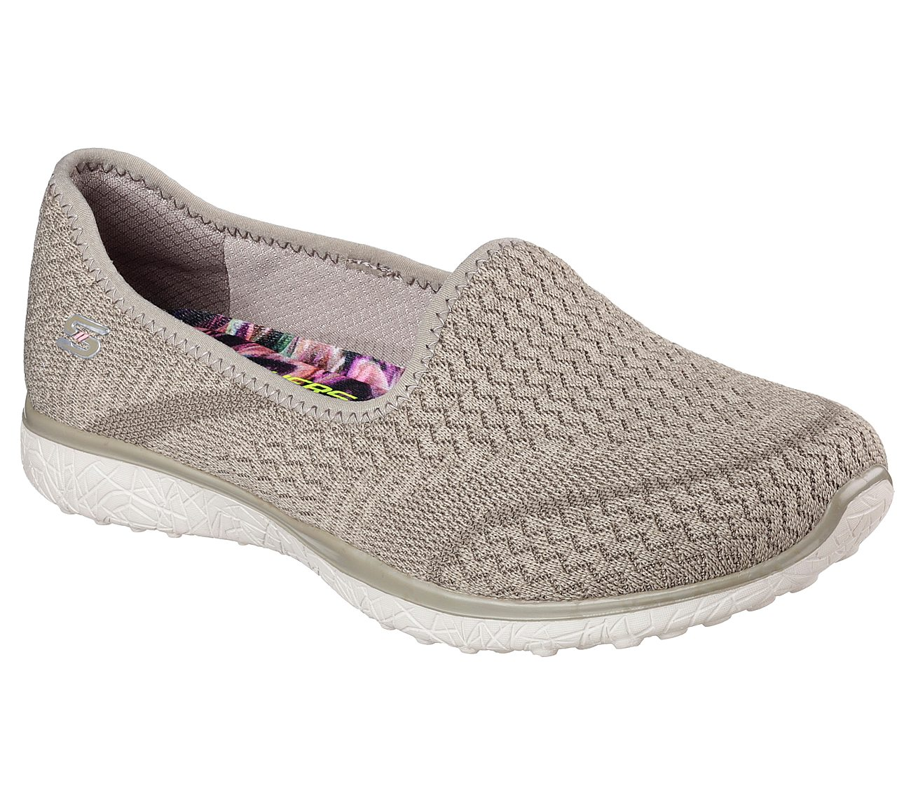 Skechers Damen Microburst One up Sneaker  5 UKBeige (Natural)