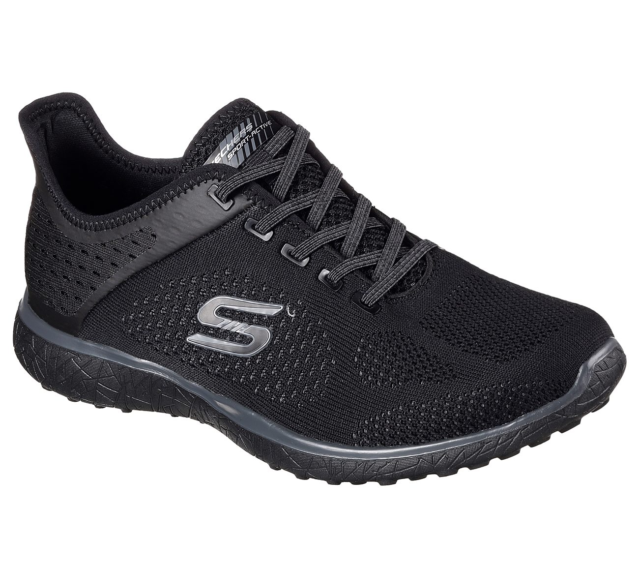 Skechers Damen Microburst 23327-Bbk Sneaker