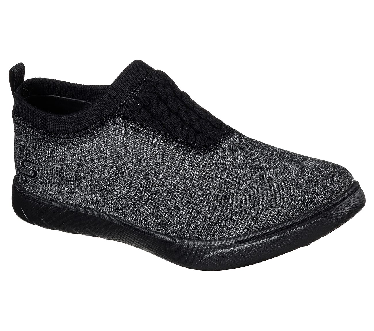 Skechers Women/'s Slip On Casual Shoes Millennial Light Storm 23539 Black//White