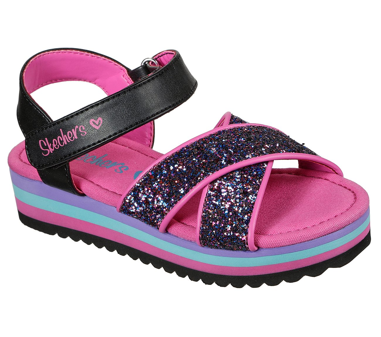 Buy SKECHERS S Lights: Heart Lights Sandal Color Groove S