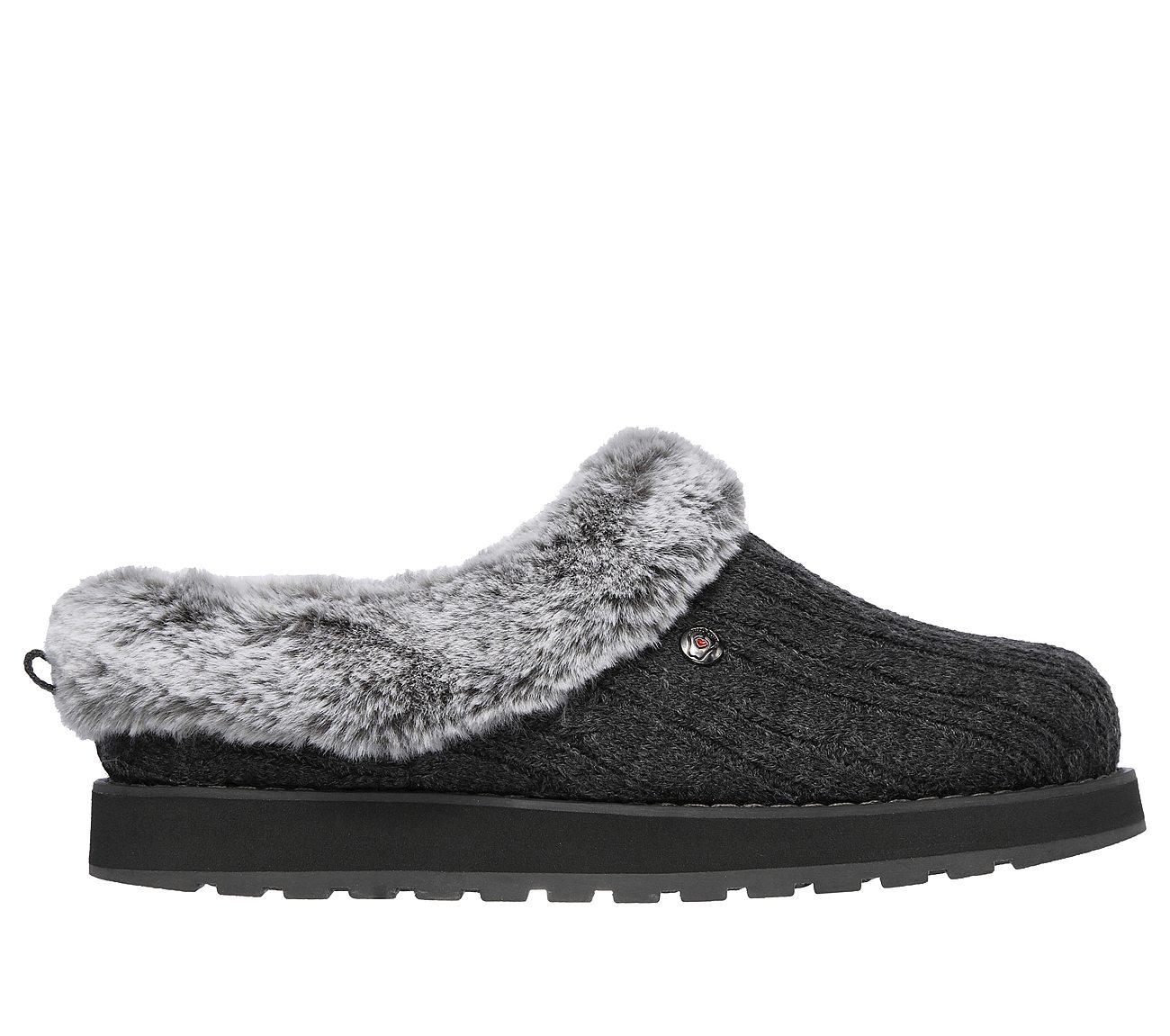 Skechers SK31204 Bobs Keepsakes Ice Storm charcoal 3-8 ladies mule slipper size 3-8 charcoal 518484