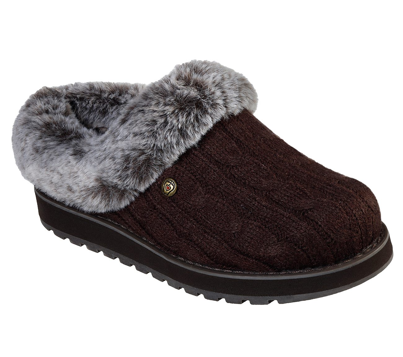 Skechers SK31204 Braun Bobs Keepsakes Ice Storm chocolate Braun SK31204 ladies mule slipper c0918d