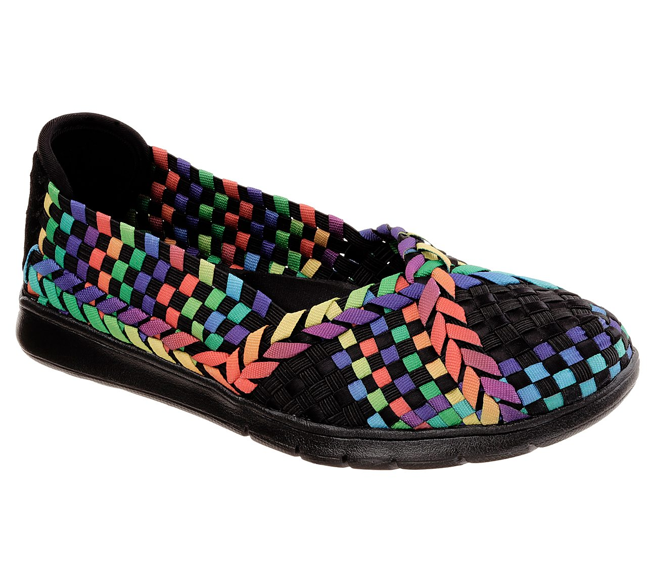 BOBS Shoes  BOBS Hologram 33600 Womens Flats Black Multi