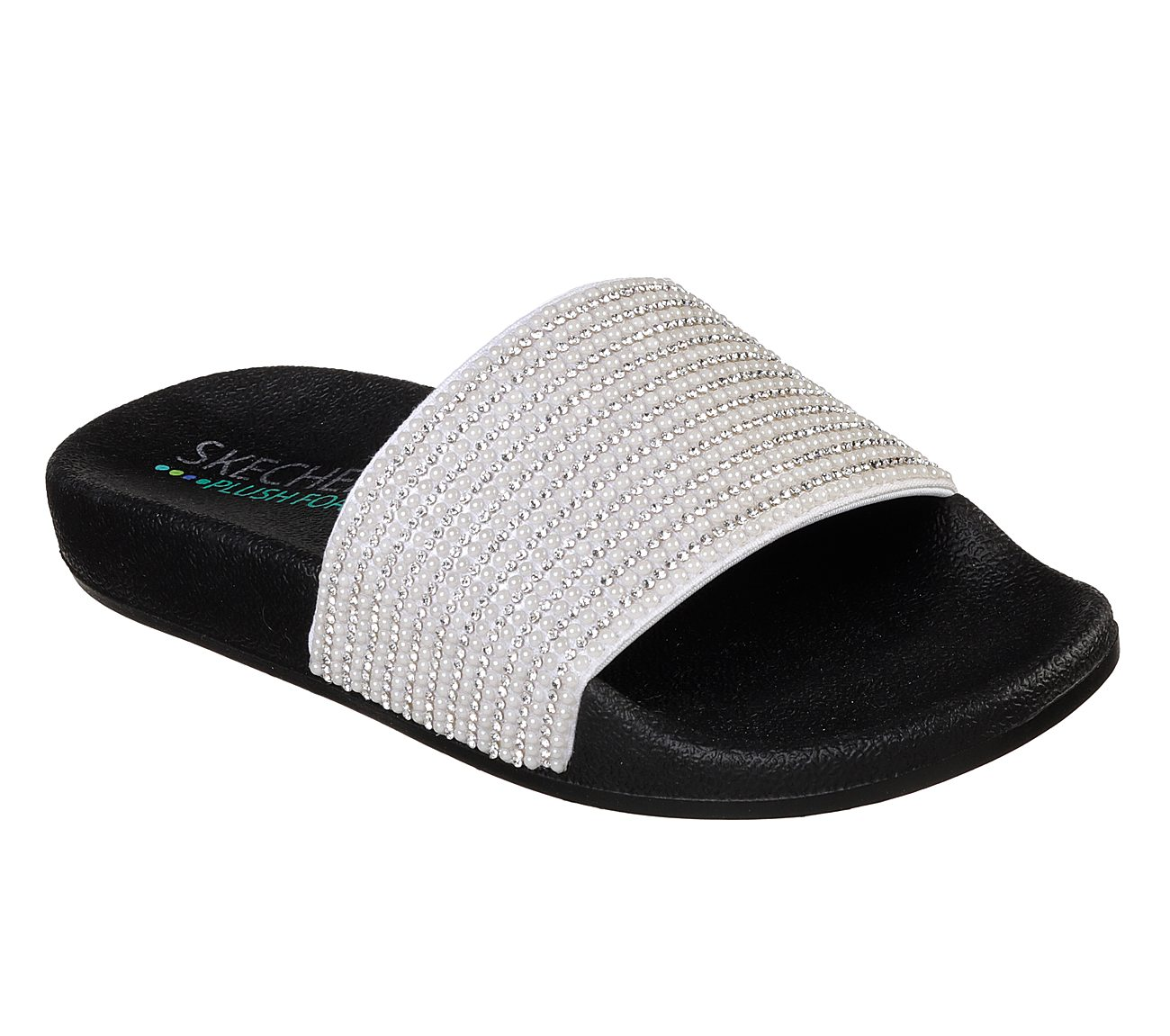 Wide With Slide Sandals with Rhinestones Skechers