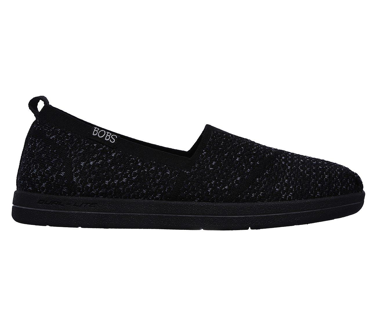 Black Stripe Bobs Super Plush Slip On Shoe Bobs From Skechers