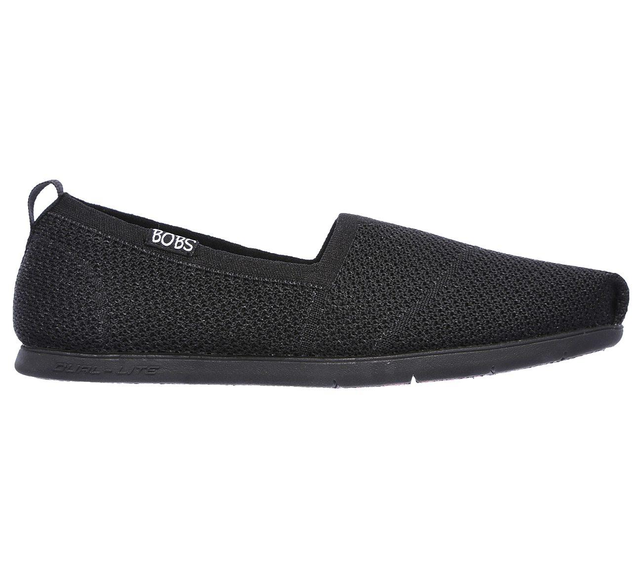 Skechers Bobs from Women's Plush Lite-be Cool Flat, Gray/Multi, 6.5 M US