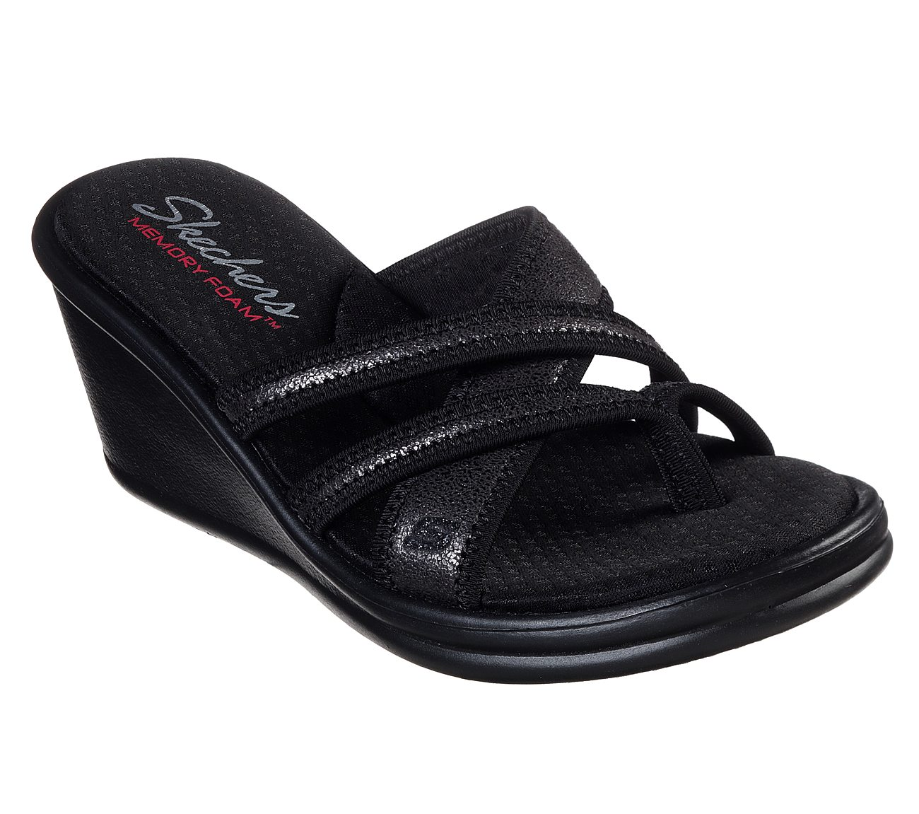 skechers memory foam wedge sandals