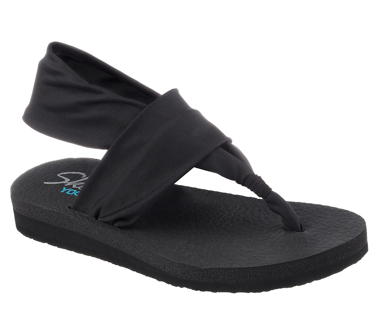 skechers black flip flops