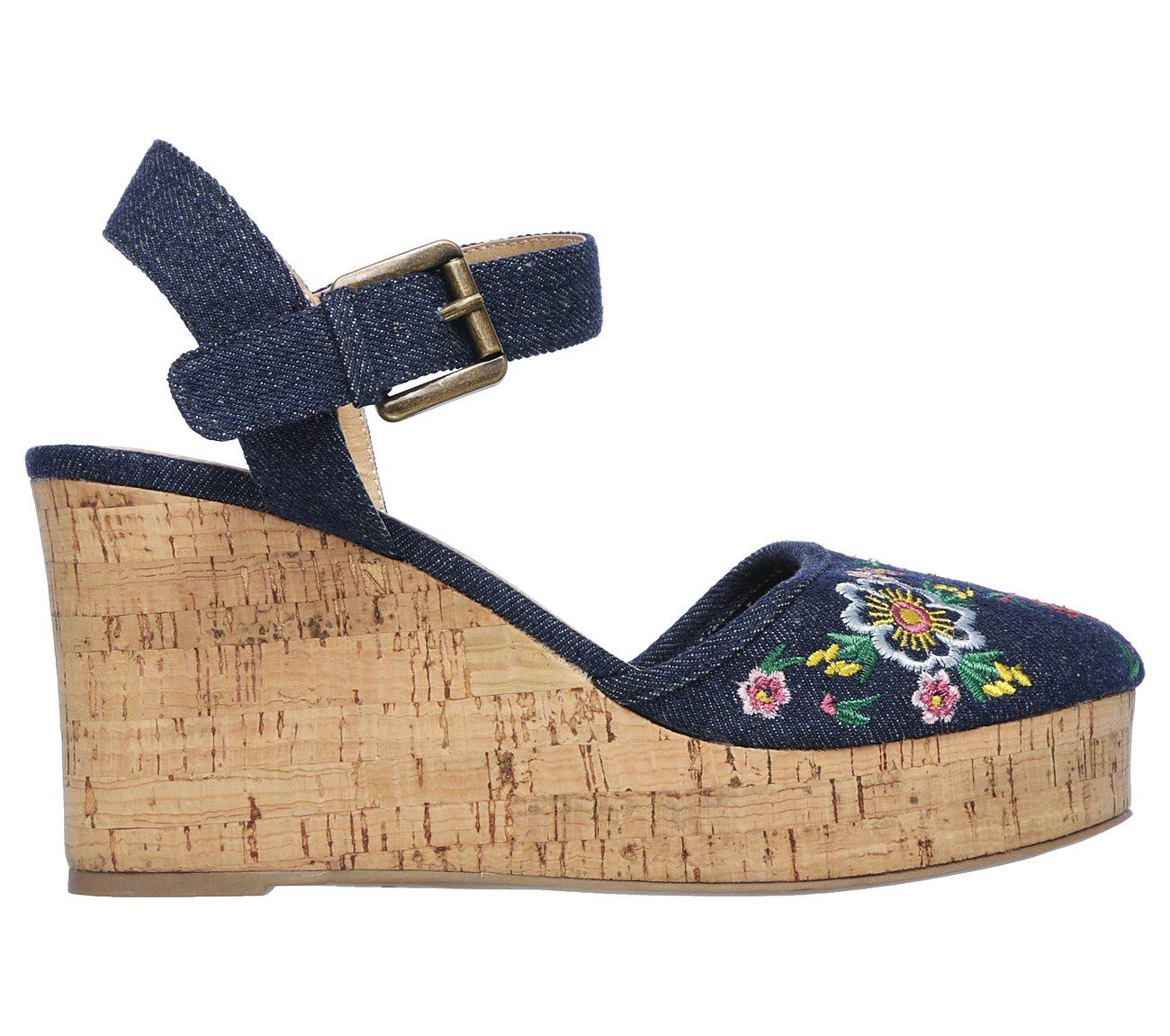 Ladies Skechers Closed toe wedge Sandals Flower Angel// 39253