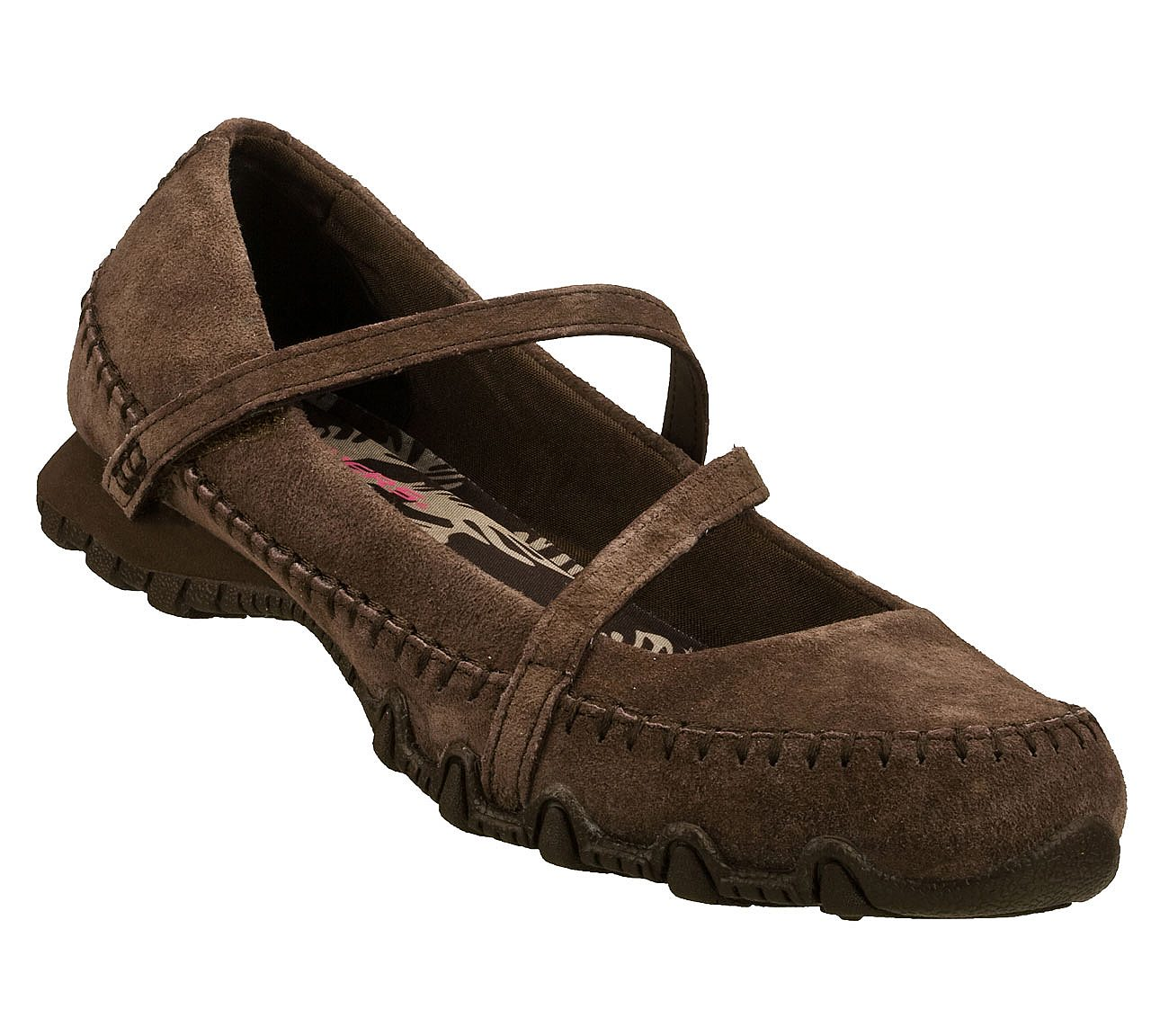 Comfort Shoes Skechers Womens Bikers Brown Leather Mary Jane Shoes Size 9.5 Clothing, Shoes & Accessories