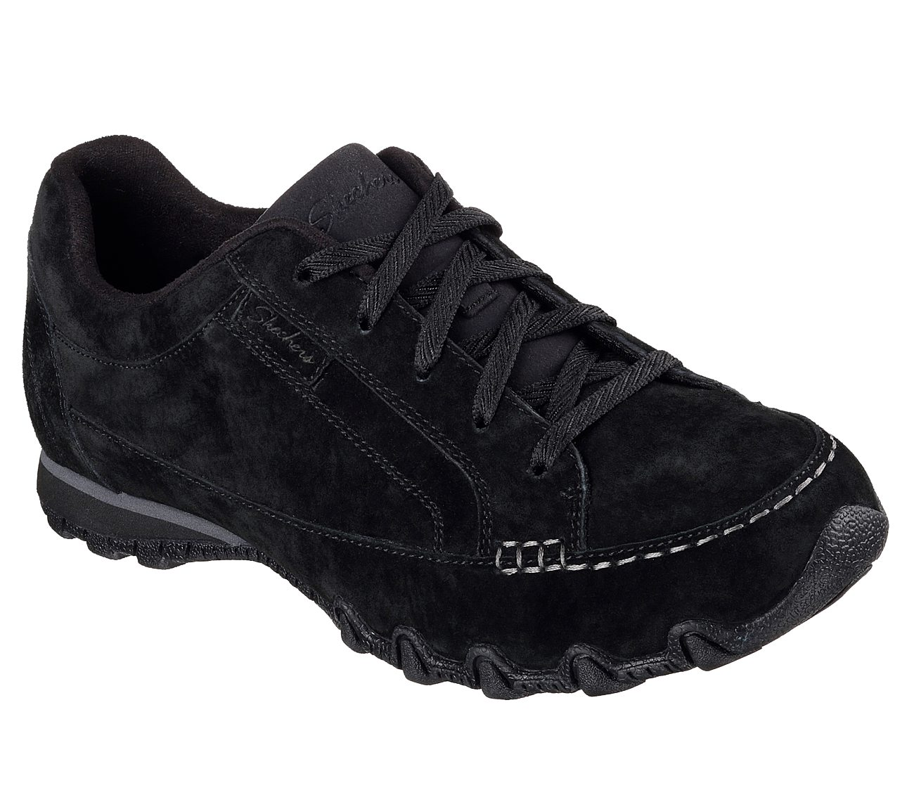 New Skechers 49336 BLK Relaxed Fit Bikers Black Women's Casual Shoes 8 US