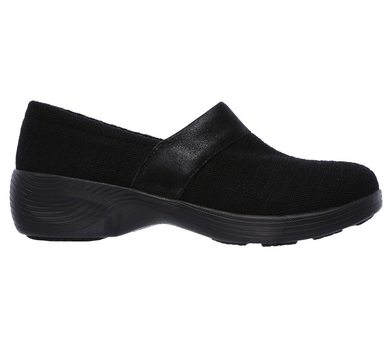 Buy Reduced Price Women's Skechers Gemma Space Trip Slip on Clogs Black