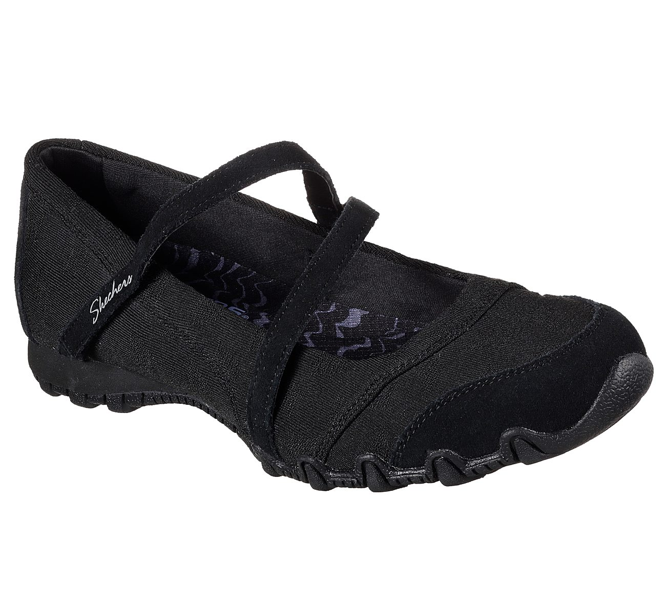 Details about Skechers Womens SZ 6 M Black Suede Relaxed Fit Slip On Mary Jane Memory Foam