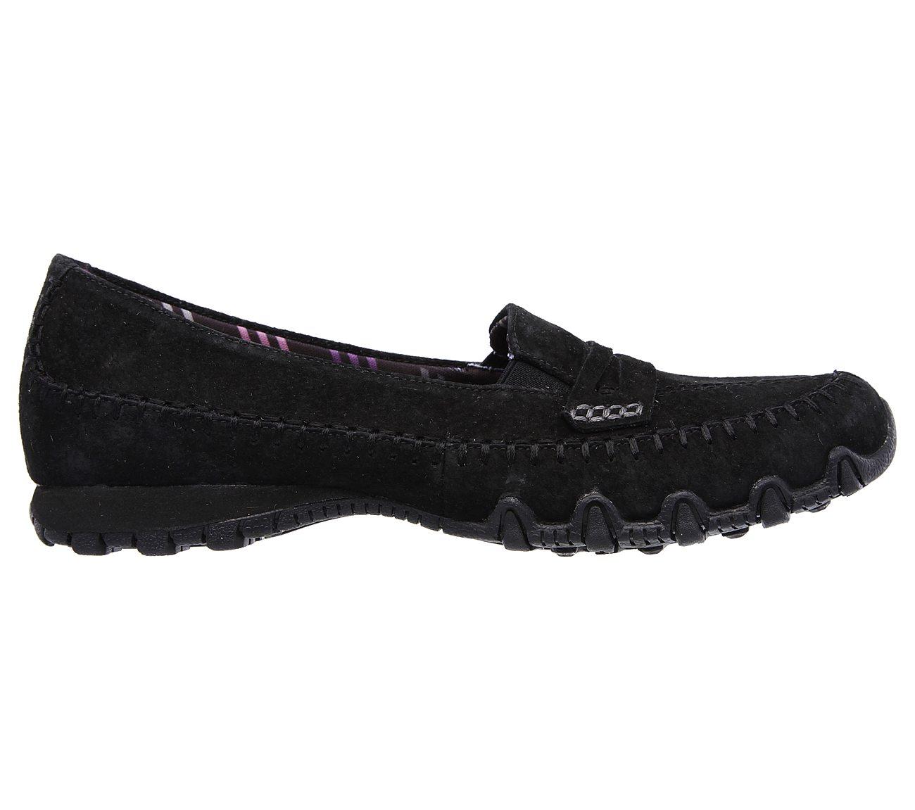 Skechers Biker Roam Suede Loafers Slip On Shoes Womens Footwear Men's Clothing