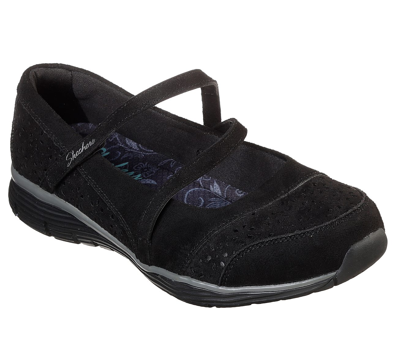 Skechers Womens Seager-Frills /& Thrills Fabric Closed Toe Mary Jane Flats
