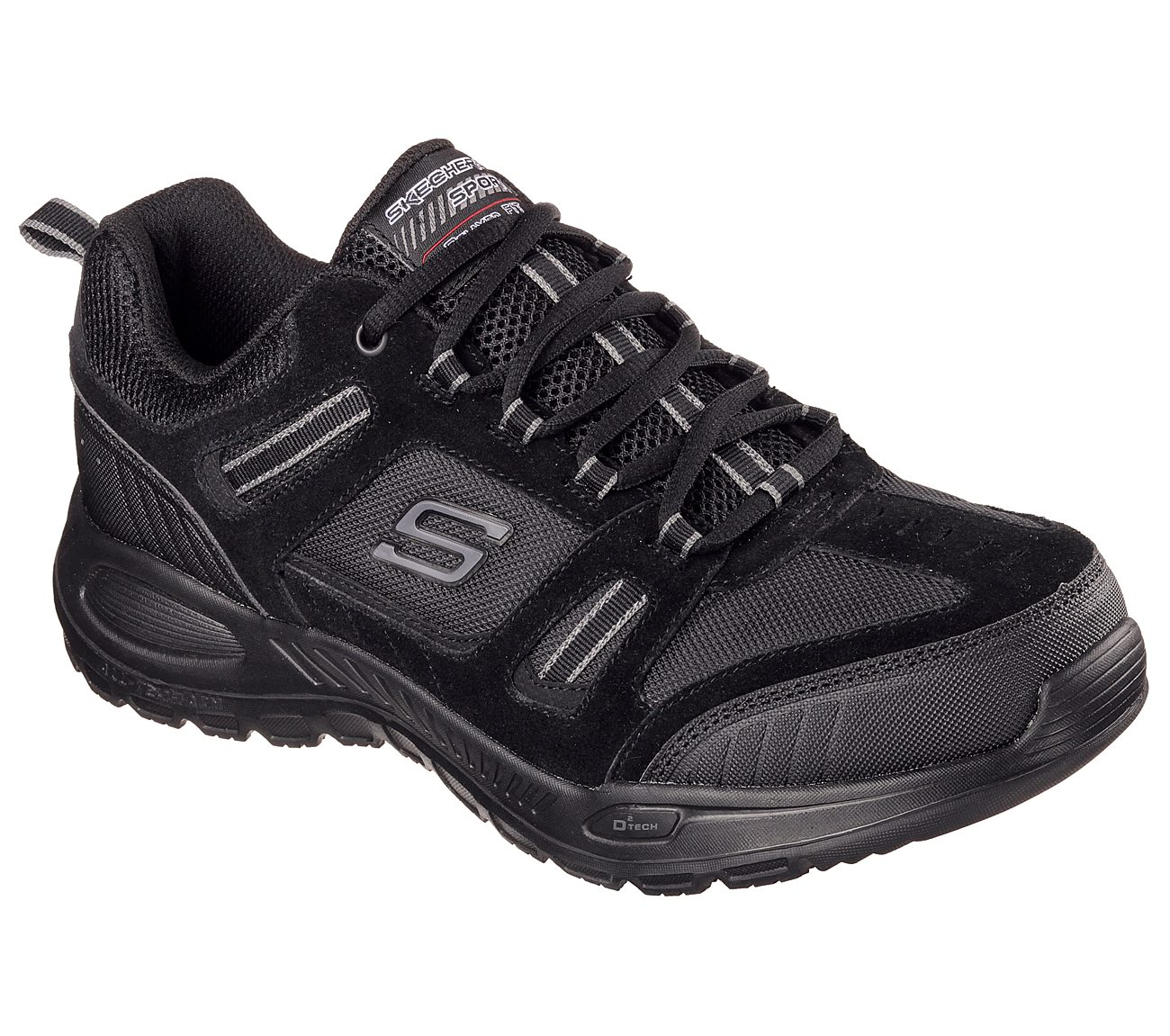 Skechers Double Down Relaxed Fit Memory Foam Sneaker Taupe/Black I53t2553