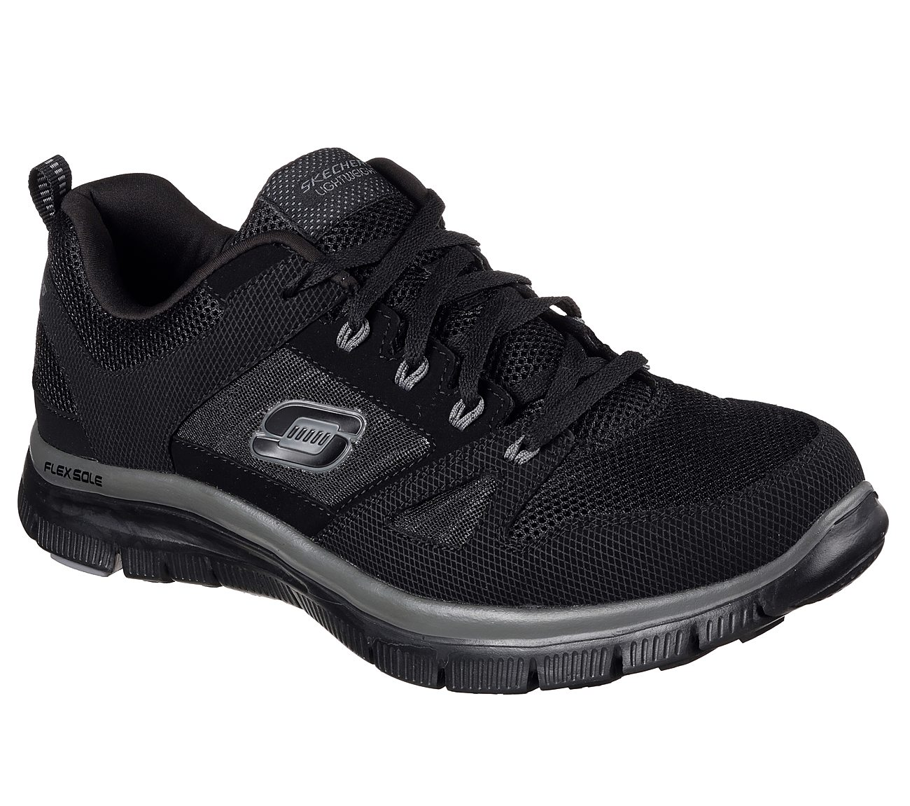 Sketchers sport women sneakers athletic shoes size 9 vented lace up balck white