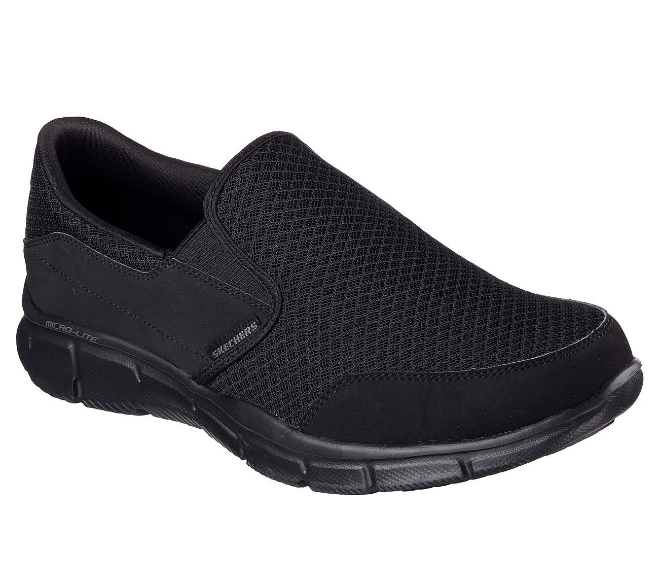 Mens Skechers Sport Memory Foam?Equalizer Persistent Slip-on Shoes Black/White Black/White