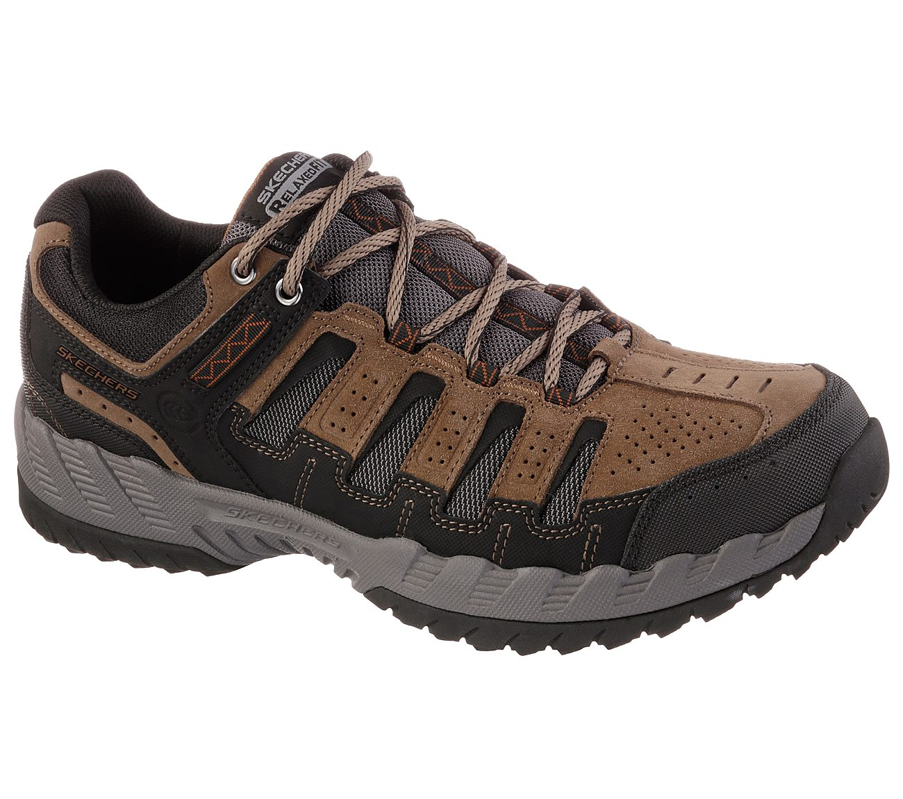 Skechers Shoes  Skechers Thrill Seeker Relaxed 51384 Mens Sports Shoes BrownBlack