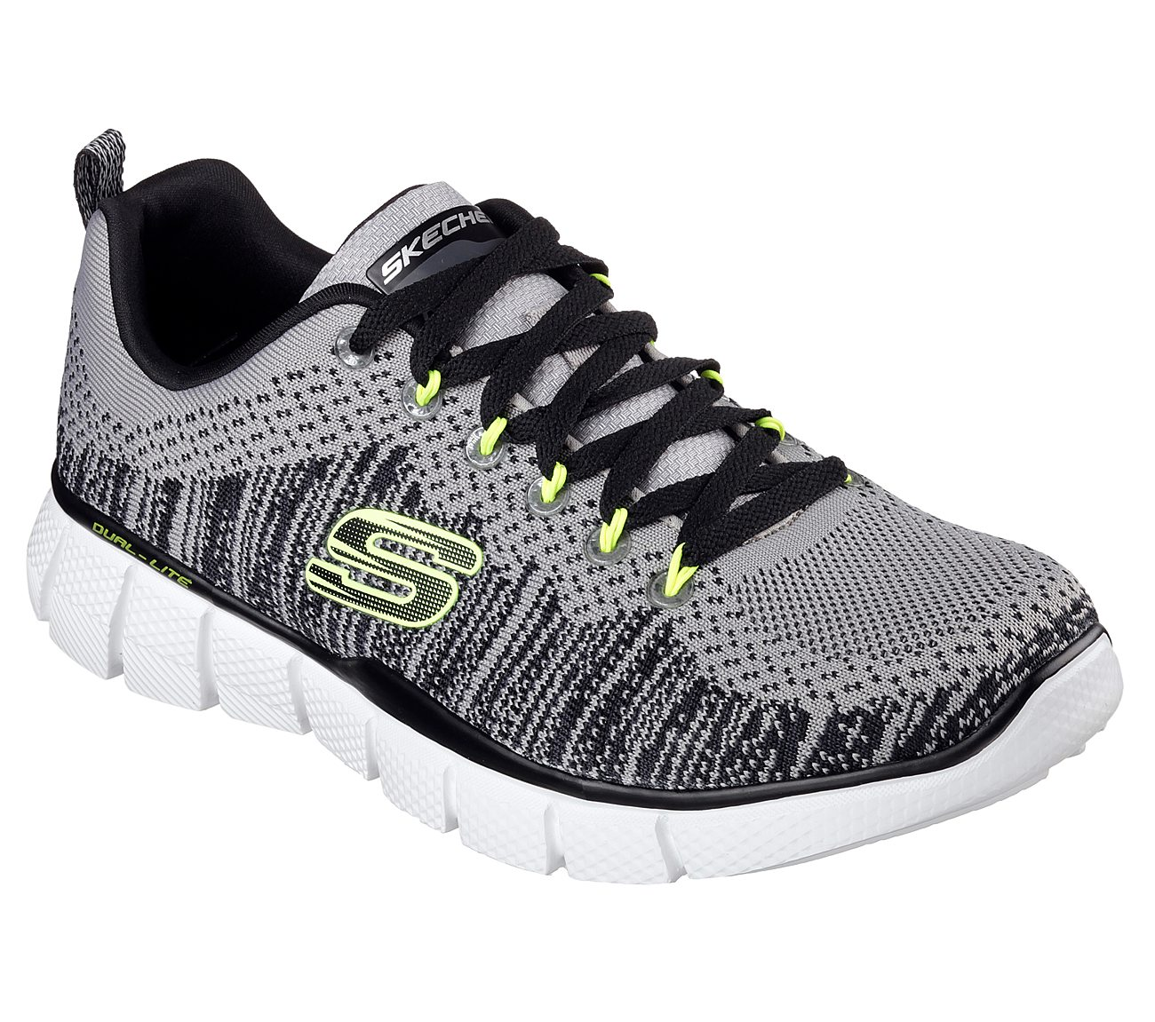 Black Equalizer Perfect Game Trainers Shoes Memory Foam Gray