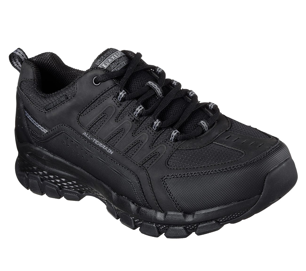2017 Ireland Skechers Just relax Black Black Shoes On Sales