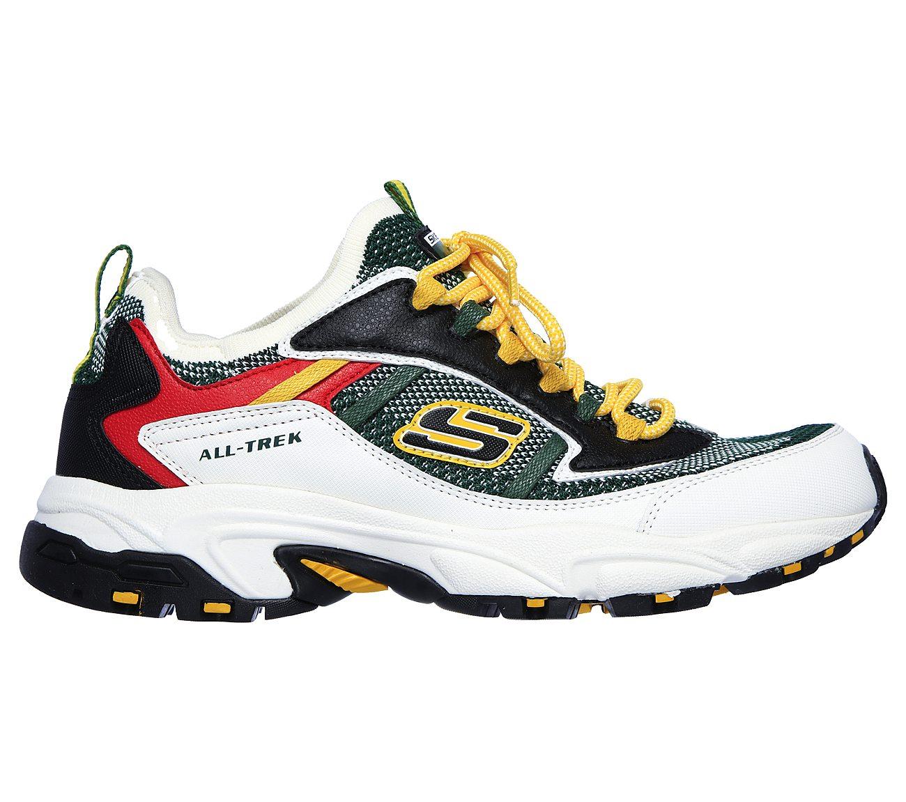 """Skechers – Sneaker """"Stamina Berendo"""" in Weiß und Grün"""