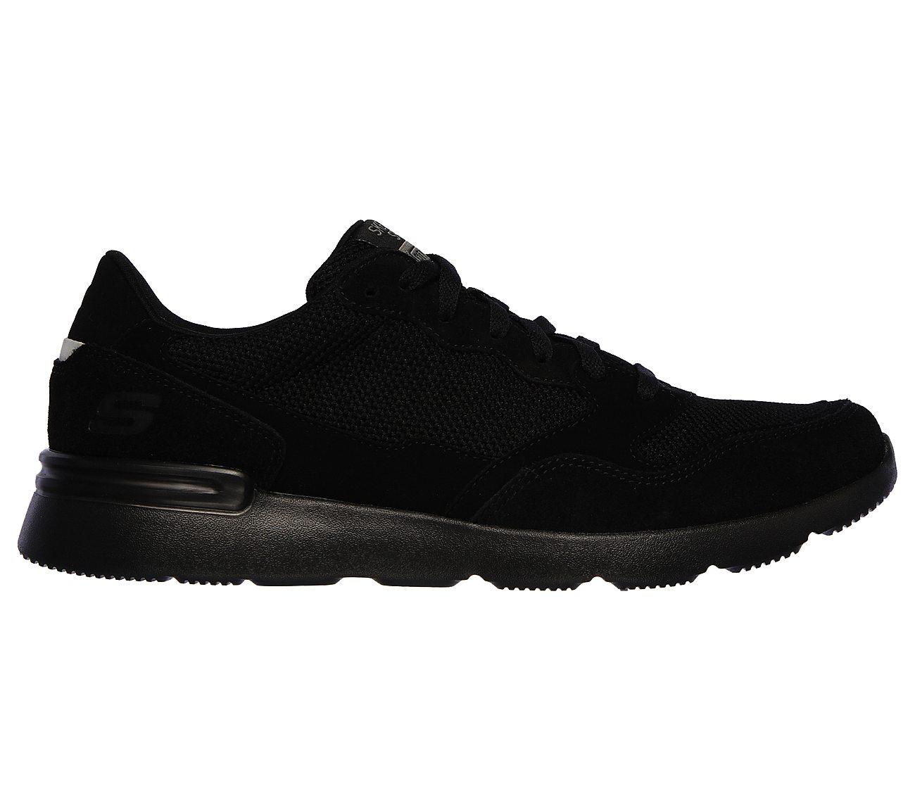 Shop for Men Skechers Relaxed Fit: Crossbar Black (51885 BKW