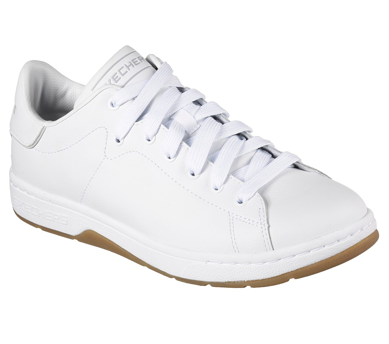 Skechers Alpha Lite Sproles White Black Mens Lace Up Sneakers