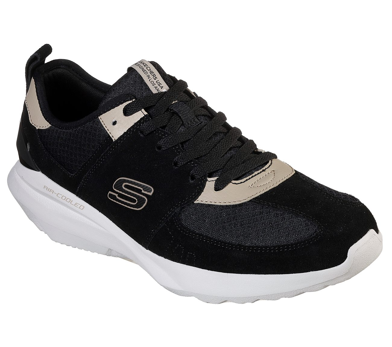 skechers black sport shoes