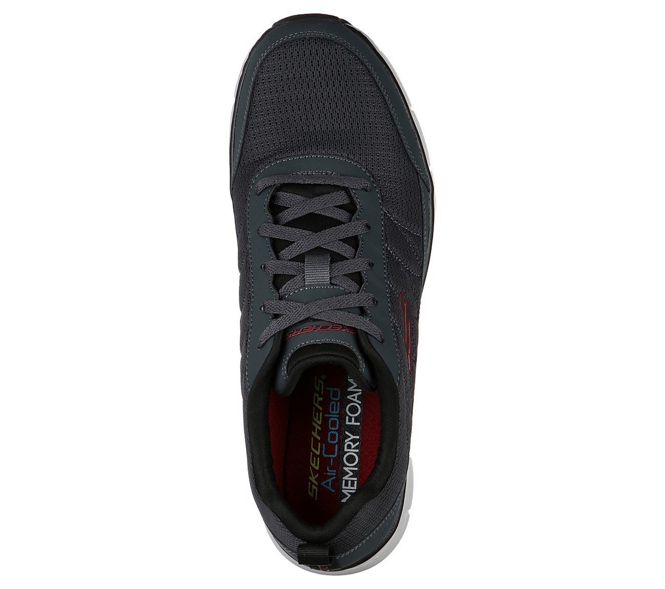 Details zu Skechers Synergy 3.0 Trainers 52584 Mens Leather Mesh Athletic Training Shoes