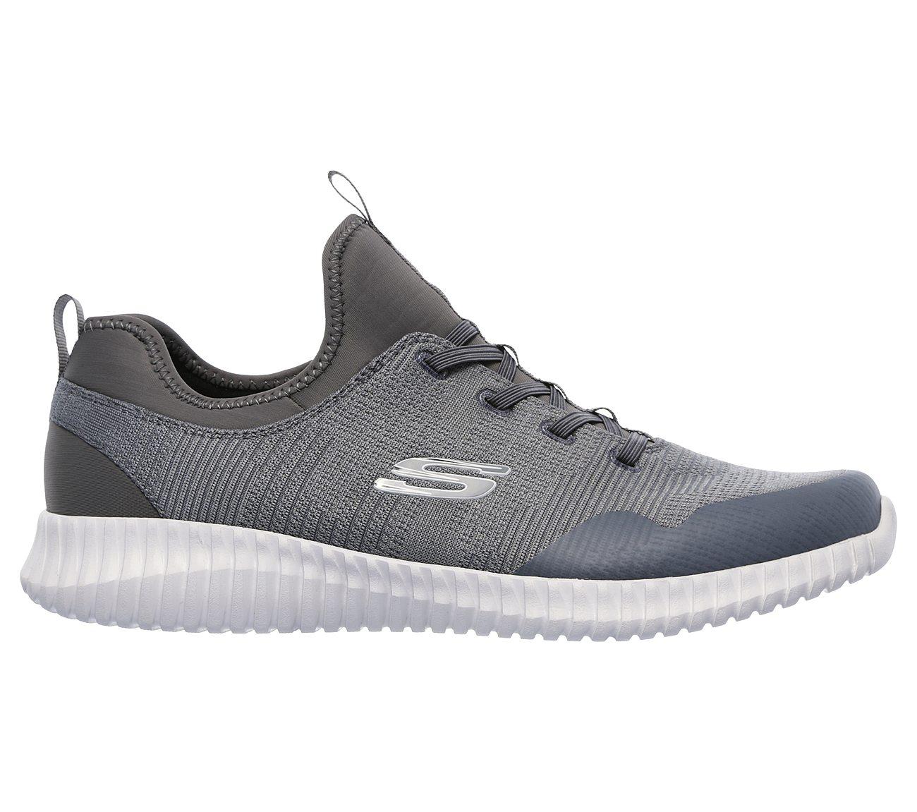 Chaussures sport femme Skechers Flex grises avec semelle Air