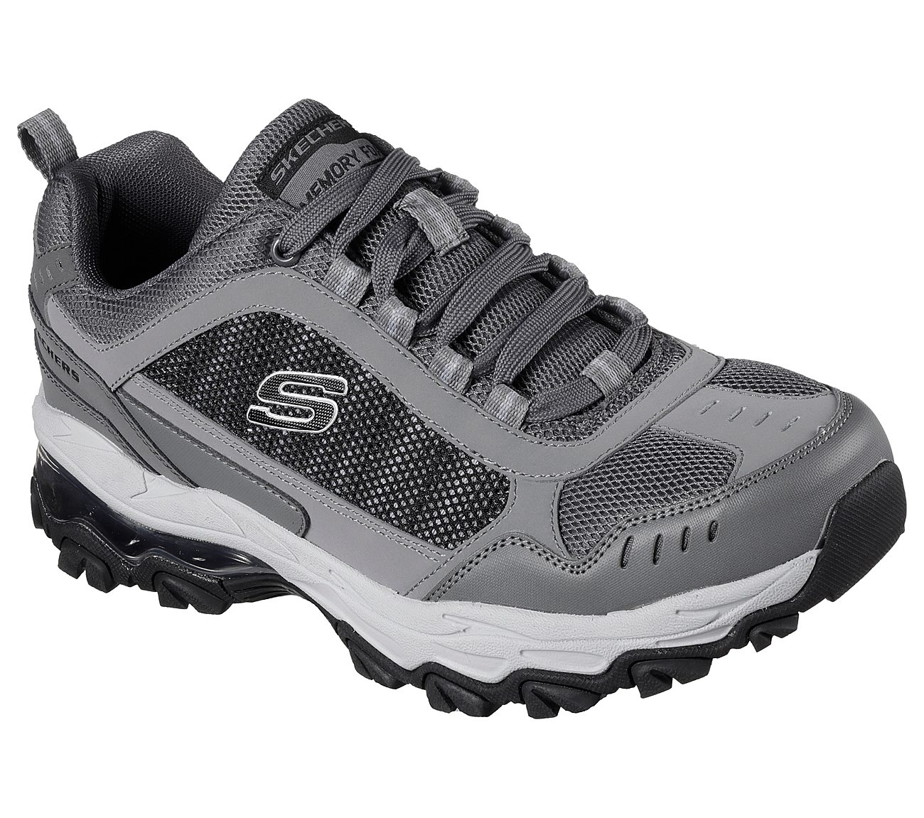 mens walking shoe skechers after burn m fit memory foam sole
