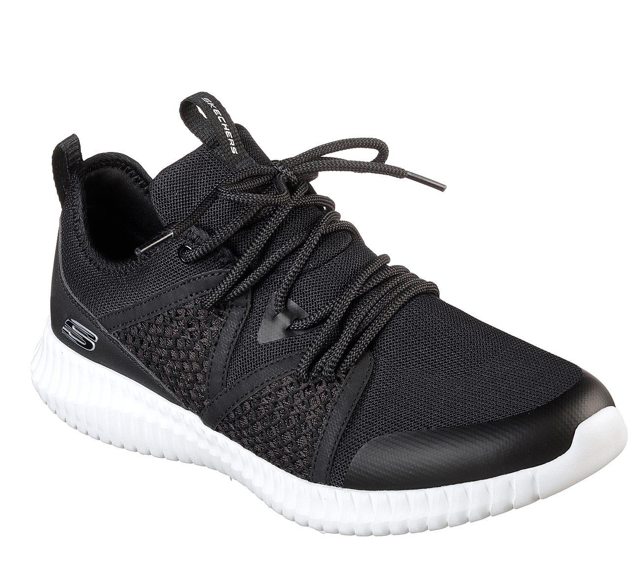 Skechers Elite Flex Falconholt White Mens Sneakers Low Top Shoes
