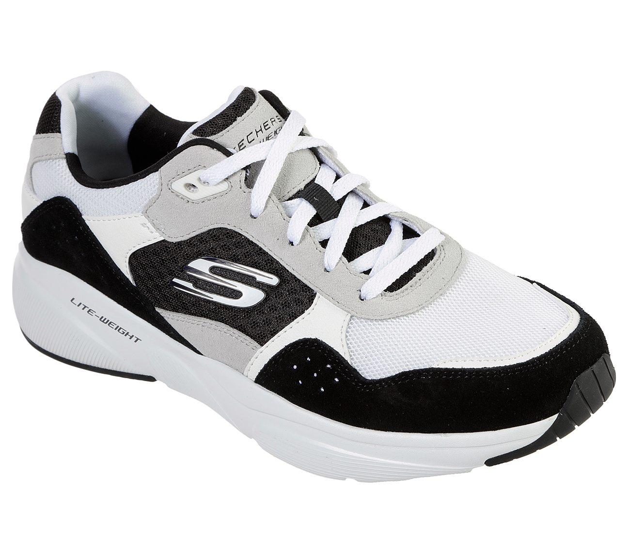 Skechers SKECHERS WOMENS MERIDIAN SNEAKER WHITE BLACK SHOES