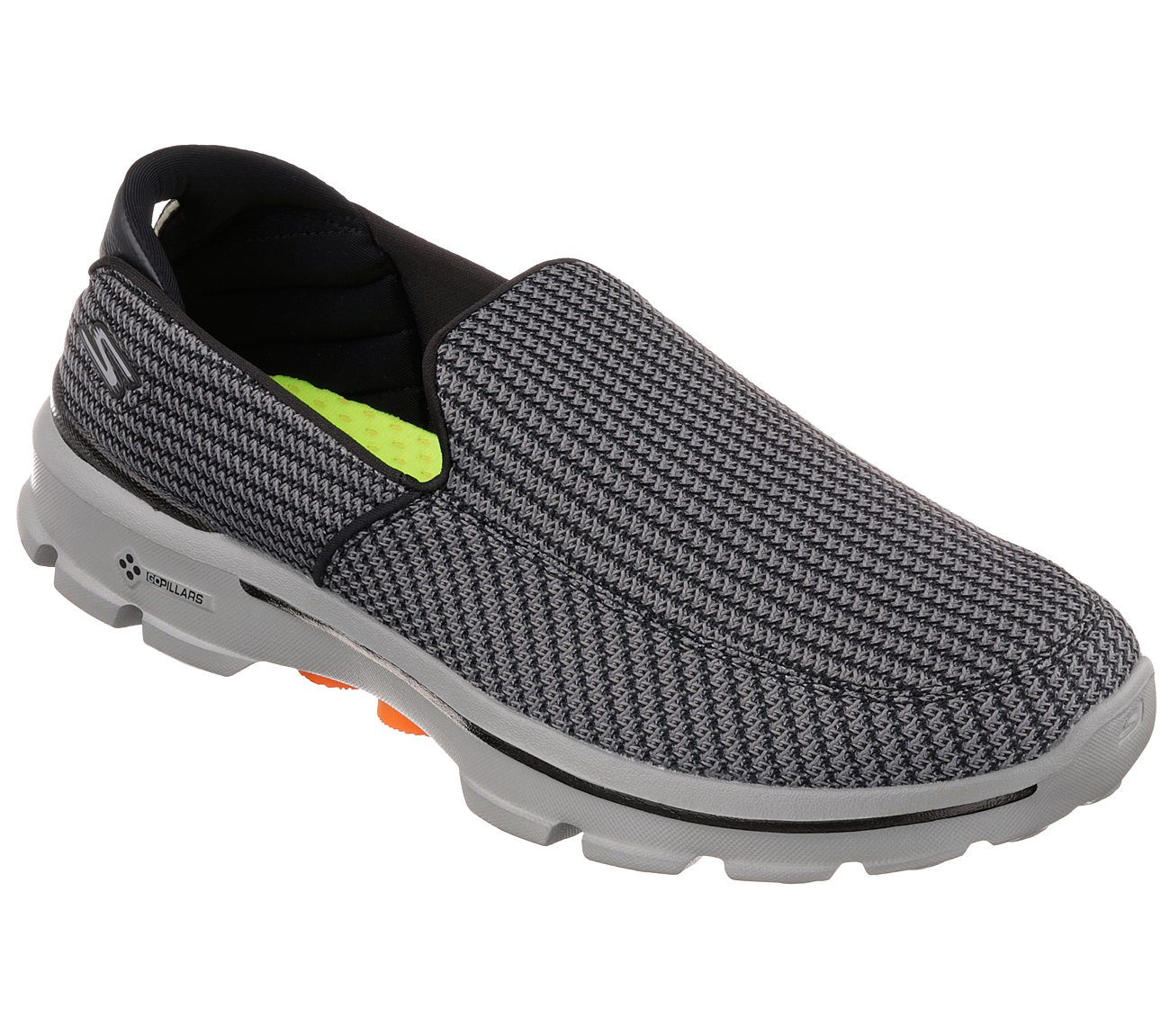 Skechers GOwalk 3. $70.00. Hover to zoom. Charcoal/Orange