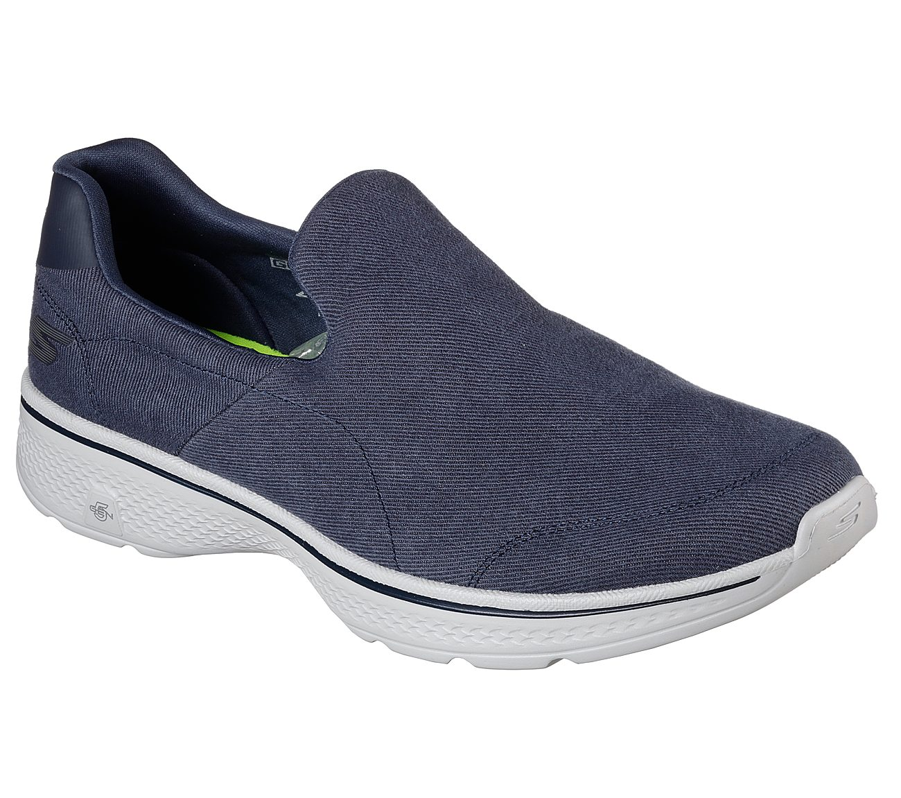 skechers go walk canvas slip on shoes