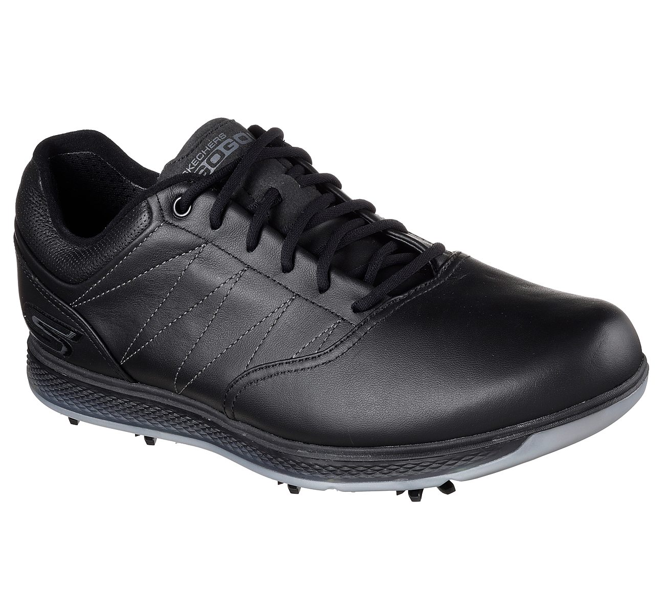 black and silver skechers