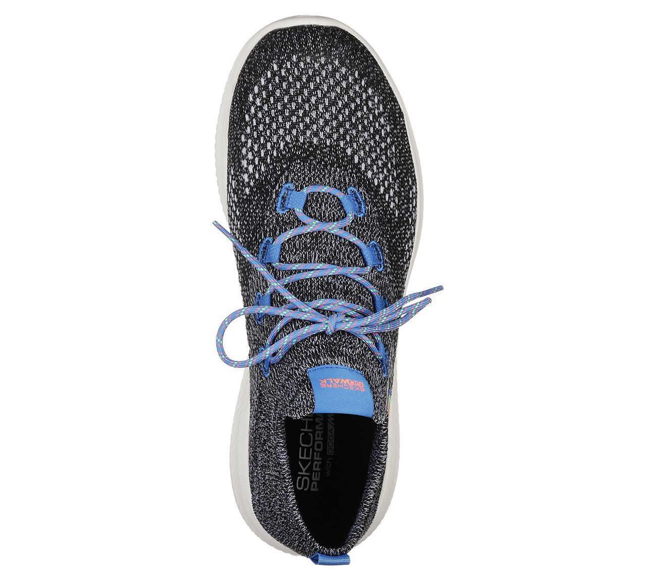 Skechers GO WALK REVOLUT ULTR TURB Black Walking Shoes 54667 BKMT