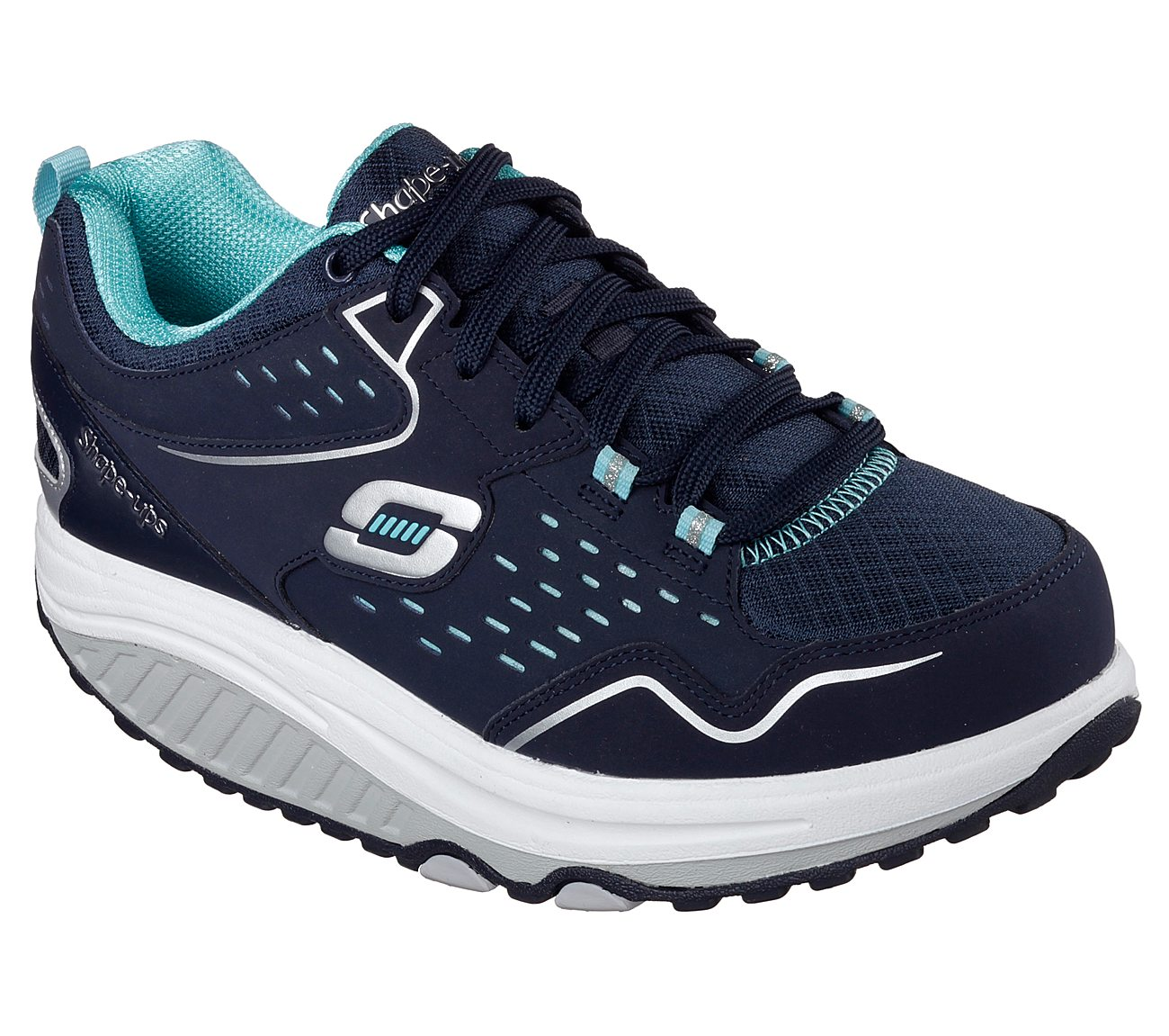 WOMENS LADIES SKECHERS SHAPE UPS BLUE