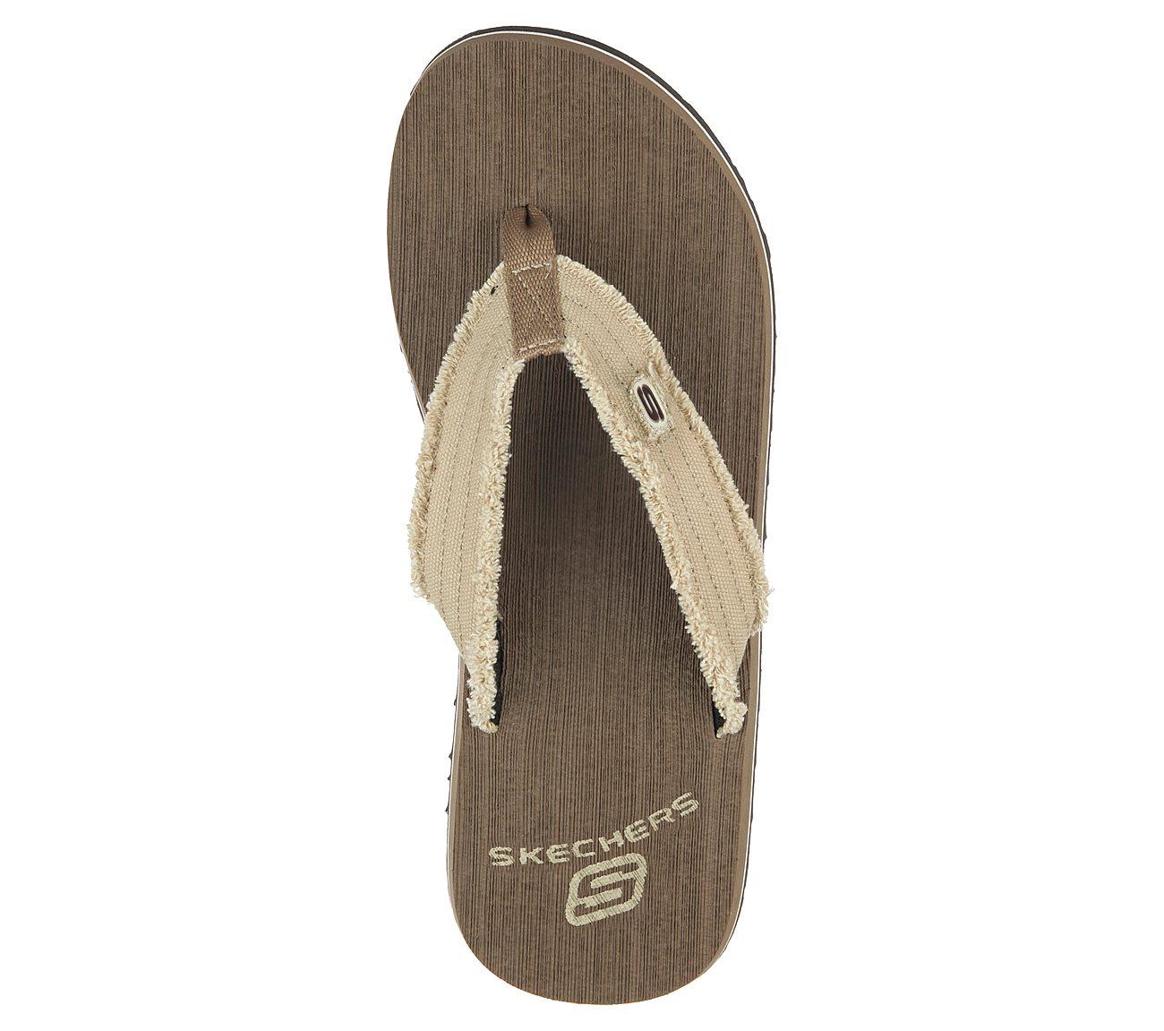 Skechers Surf Combers Flip Flops Size 9 Color Brown for sale