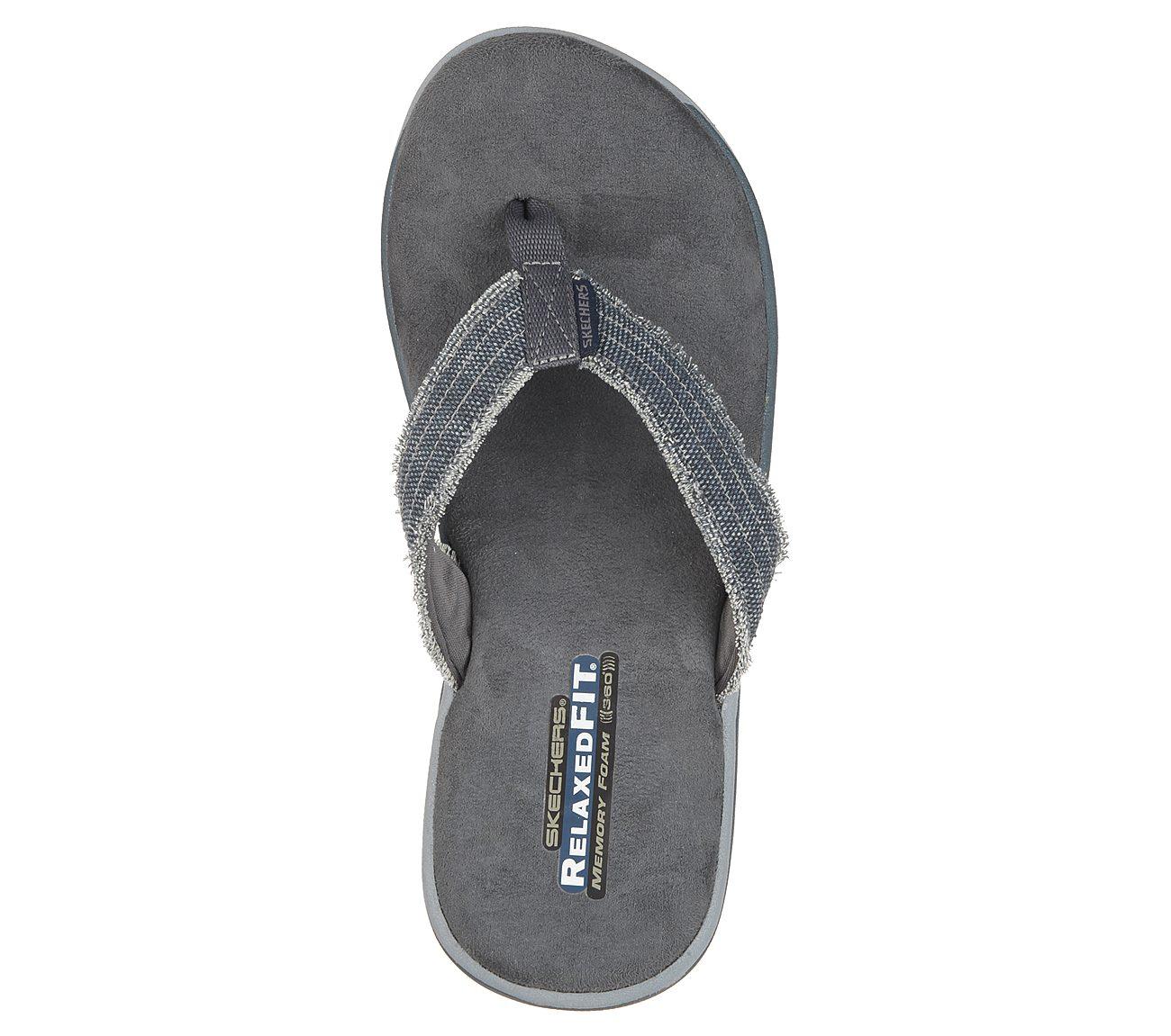 skechers memory foam flip flops