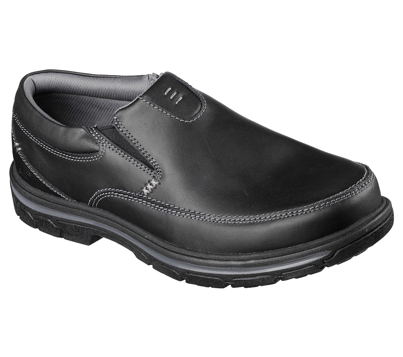 Skechers All Black Leather Shoes