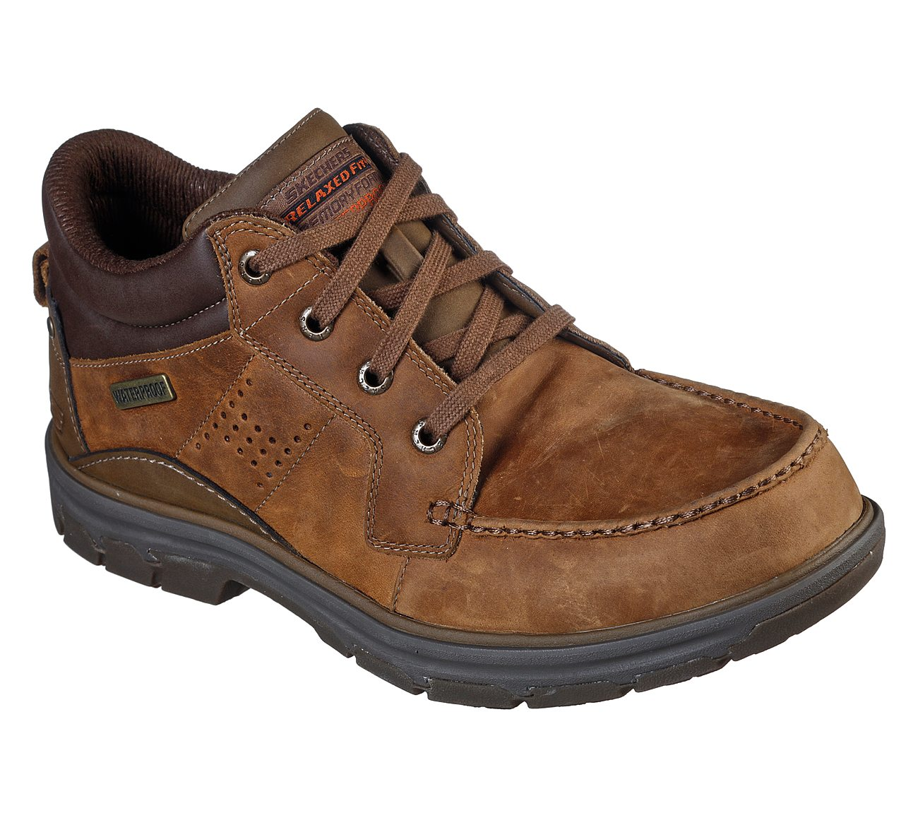 skechers relaxed fit brown