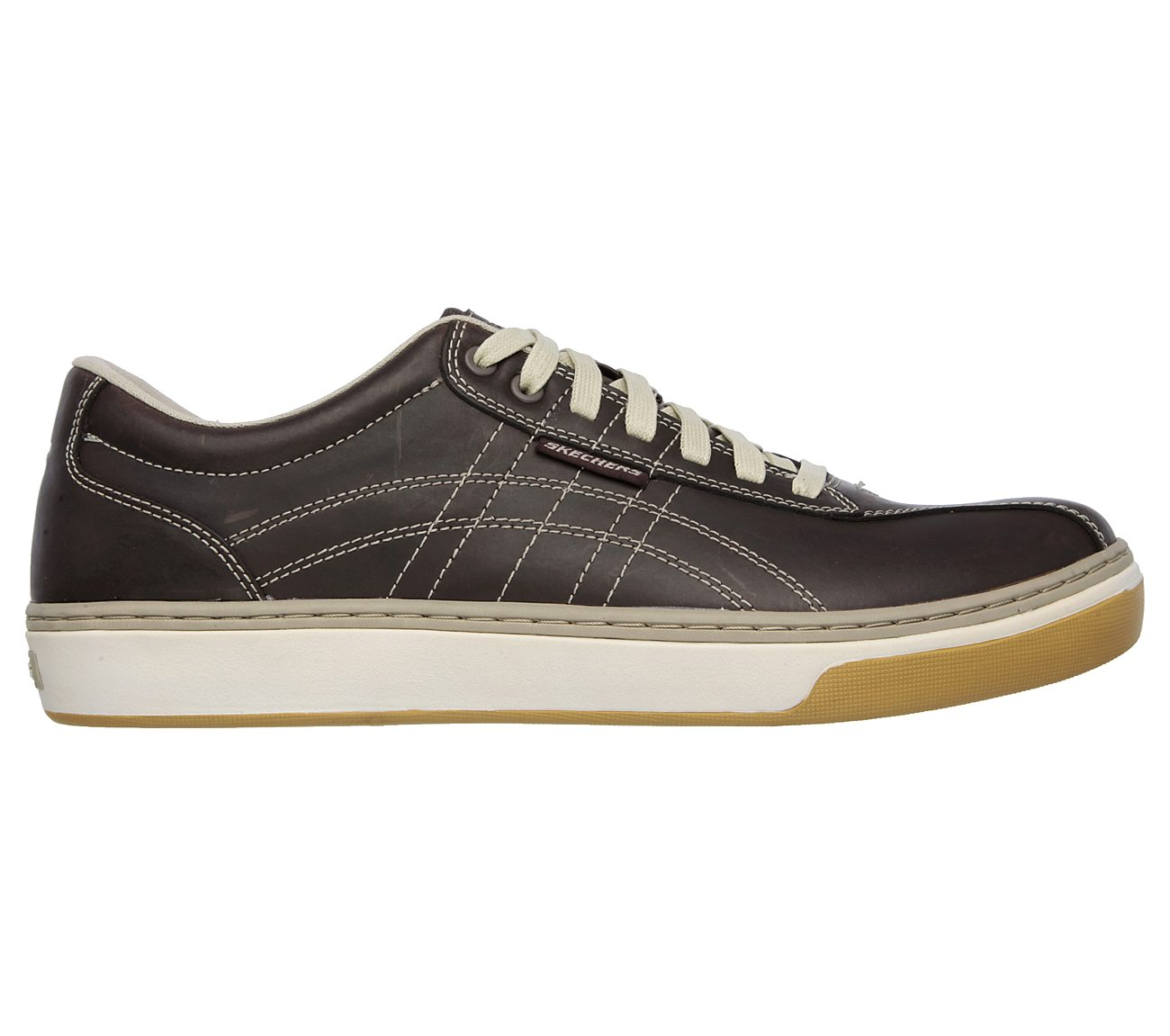 SKECHERS MENNES RELAXED Fit Leather Poles Eleno Sneaker, Dark R0H7G