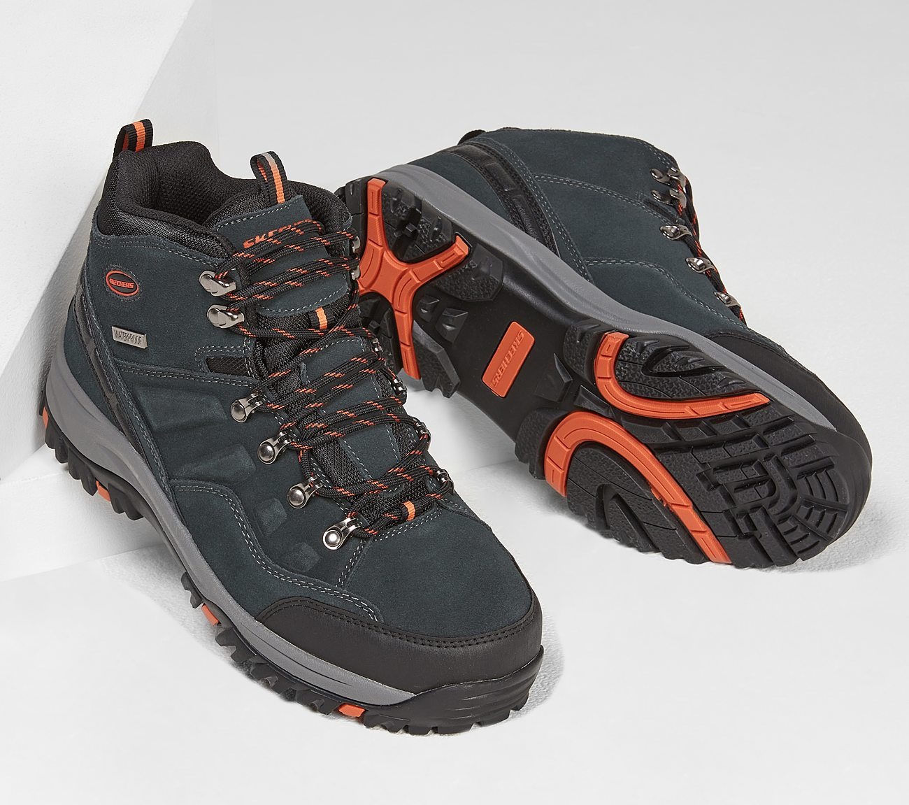 Skechers Men's Relaxed Fit Relment Pelmo Waterproof Hiking Boot