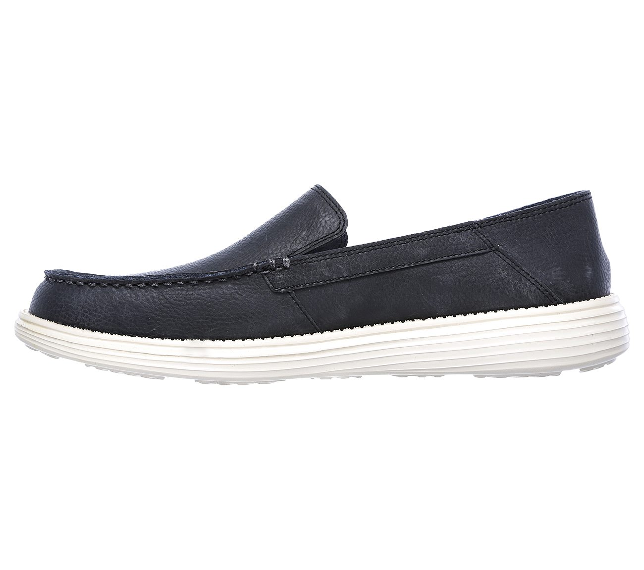 Skechers Mens Status Breson Slip On Leather Cushioned Loafer Shoes 0HL5Z5Mf59
