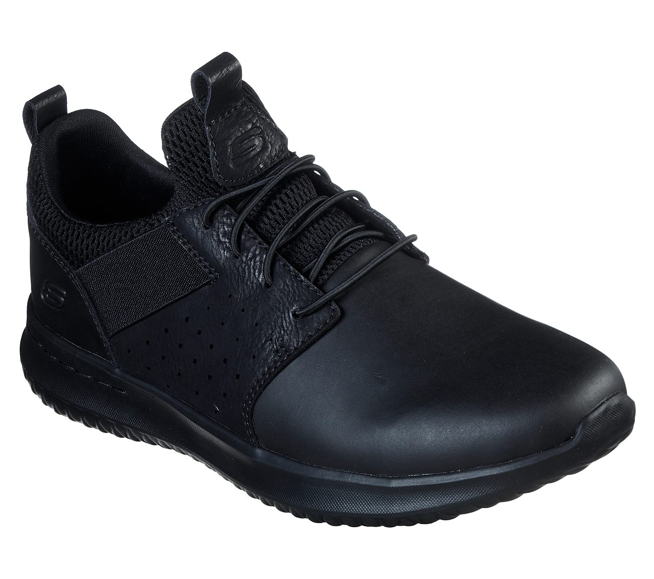 Skechers Delson Axton Trainers Mens Leather Elastic Memory